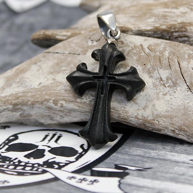 "JJJ LA Spinell Anhänger ""small Cross"" 925er Silber"