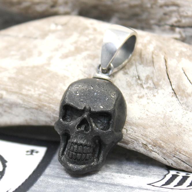 """JJJ LA Spinell Anhänger """"small black Skull"""" 925er Silber"""