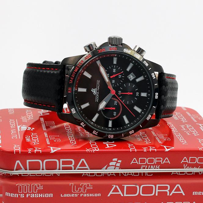 Adora Nautic AN2957 Chronograph red bis 100 Meter Wasserdicht