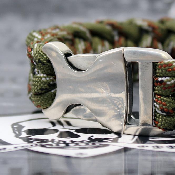 "JJJ LA Paracord Armband ""camo"" mit 925er Silberschließe Länge: 210 mm"