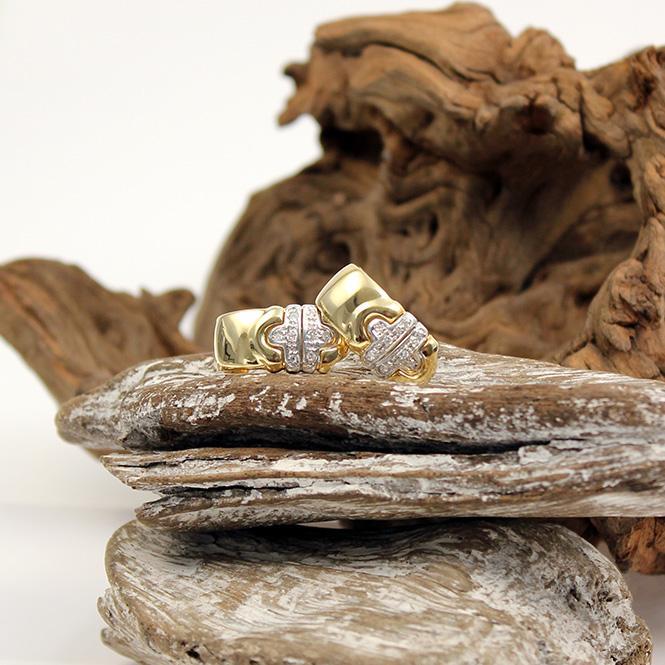 Diamant Ohrstecker 750er Gelbgold