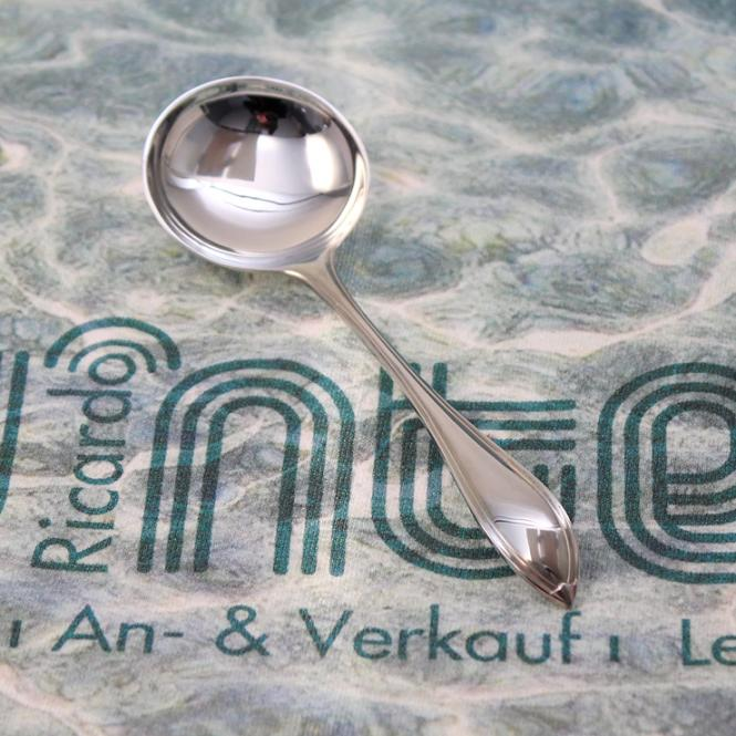 R&B Zucker - Löffel 800er Silber Navette