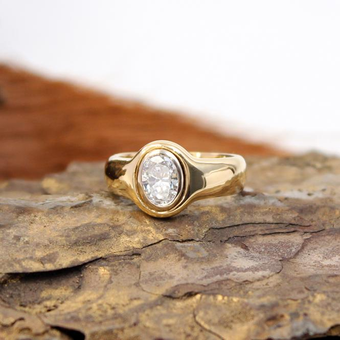 Gelbgold Diamant Ring 750er 0,75Ct