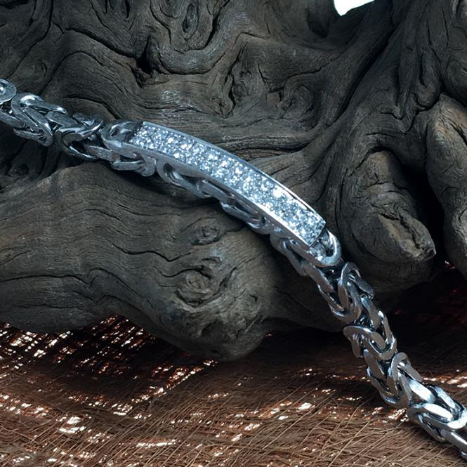 Weißgoldarmband mit Diamanten im Brillantschliff ca. 0,56 ct in 585 WG gefasst