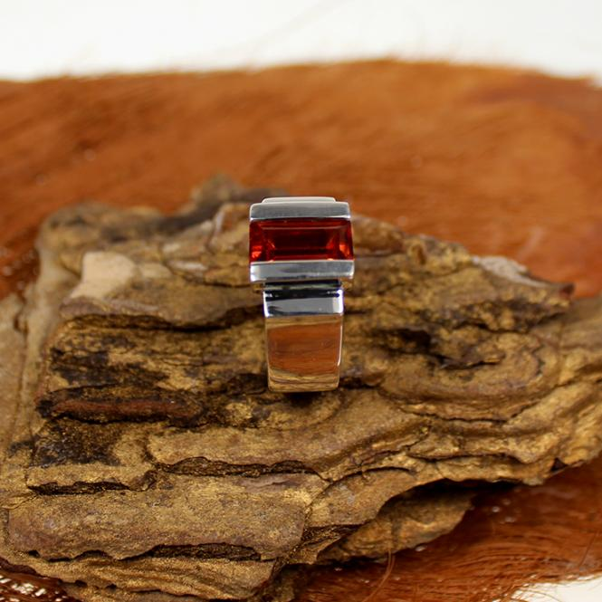 Silber Ring mit Almandine