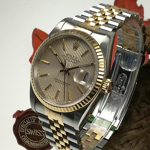 Rolex Date Just Stahl Gold