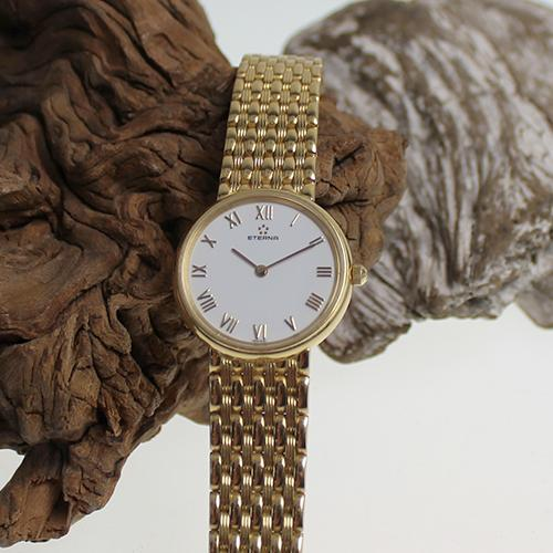 Eterna Damenarmbanduhr 750 Gold