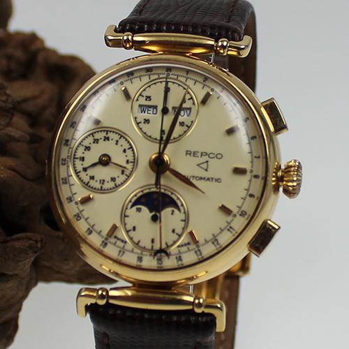 Repco Chronograph mit Vollkalender Automatic 18kt/750 Gold