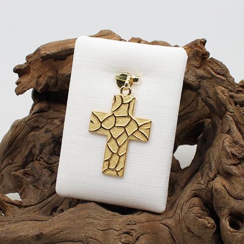 Kreuzanhänger 585 Gelbgold