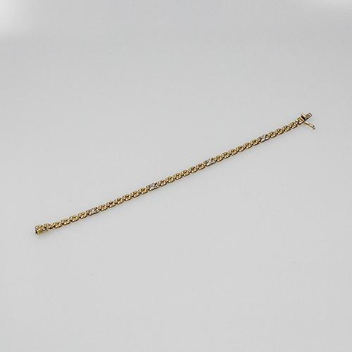 Armband Gelb.-Weißgold 585  mit Dia. Besatz