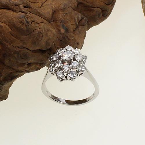 Weißgold Brillant Ring 585