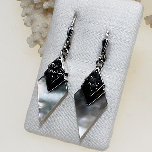 Ohrhänger Silber/Perlmut