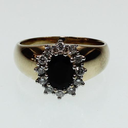 Saphir Diamant Ring Gelbgold 585