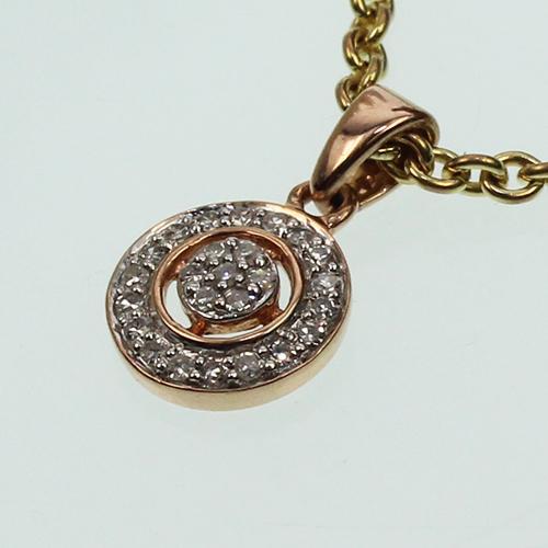 Collierkettchen Anker 333 mit Diamant Anhänger 585  0,09 ct