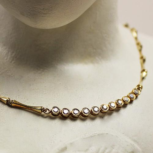 Brillant Collier 585 Gelbgold