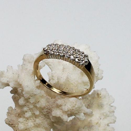 Diamantring 585 Gelb.-Weißgold