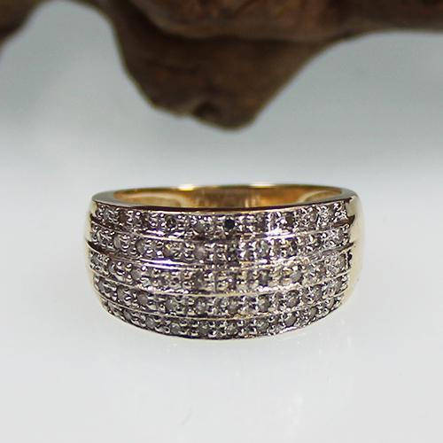 Diamantring 585 Gelbgold