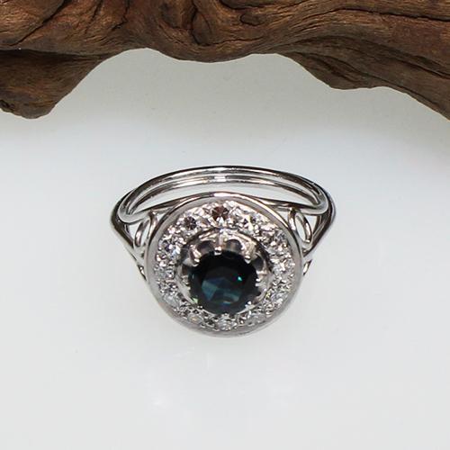 Saphir Diamant Ring 585 Weißgold