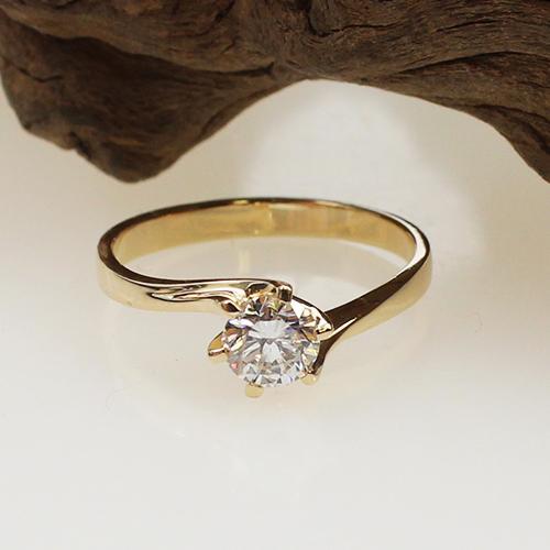 Solitär Brillant Ring 750 Gelbgold ca. 0,52 ct