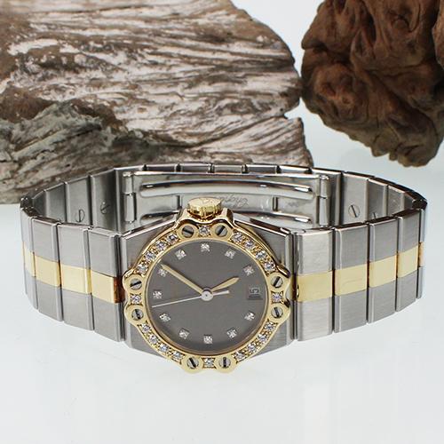 Chopard St.Moritz Stahl/Gold mit Brillant Besatz