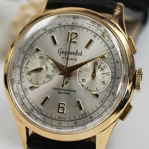 Herren Chronograph Girandel 750 Gelbgold