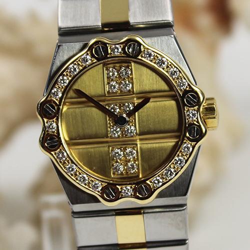 Chopard St.Moritz Stahl/Gold mit echt goldenem Zifferblatt und Diamant Besatz. Sehr Selten!