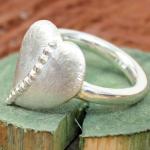 DUR  Damen Ring Herz-Blatt R3732 GR. 54