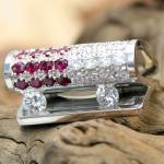 """Bretterbauer """"Moving Diamonds"""" Rubin-Brillant Ring"""