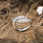 Brill.Ring 585 Weißgold ca. 0,65 ct