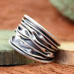 AAGAARD Ring Sterling oxidiert GR 54