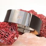 Street Lederband Stahl mit funkelnden Steinen RSP169BRS