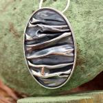 AAGAARD Collier oval/oxidiert