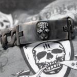 """JJJ LA Panzer Armband """"SKULL"""" in 925er Sterlingsilber"""