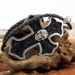 JJJ LA big cross skull leather