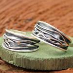 AAGAARD Ohrringe Sterling oxidiert