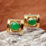 Smaragd Brillant Ohrstecker 750 Gold