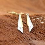 Platin Ohrhänger mit zwei Diamanten