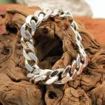 Flachpanzer Armband 835er Silber