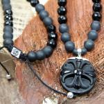 JJJ LA Shamballa Halskette Cross Onyx