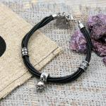Edelstahl/ Leder Armband von Clochard CA001