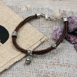 Edelstahl/ Leder Armband von Clochard CA002