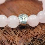 JJJ LA Buddha Braclet Armband Rosenquarz 12 mm
