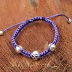 La Plata Armband Skull Violett 180 mm
