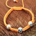 La Plata Armband Skull Orange 180 mm