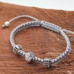La Plata Armband Buddha Grau 180 mm