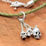JJJ LA three Skulls Pendant