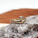 Brillant Solitär Ring 585er GG