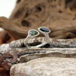 Turmalin Brillant Ring 750er Weißgold