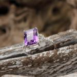 Diamant - Amethyst - Ring 750er WG