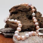 SWZ Perlenkette mit Magnetverschluß in Silber